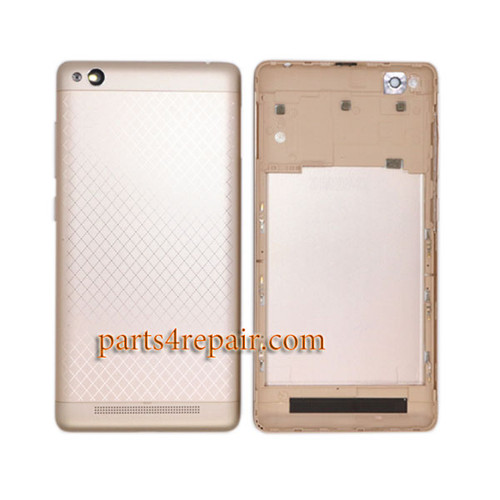 Back Housing with Side Keys for Xiaomi Redmi 3 -Gold