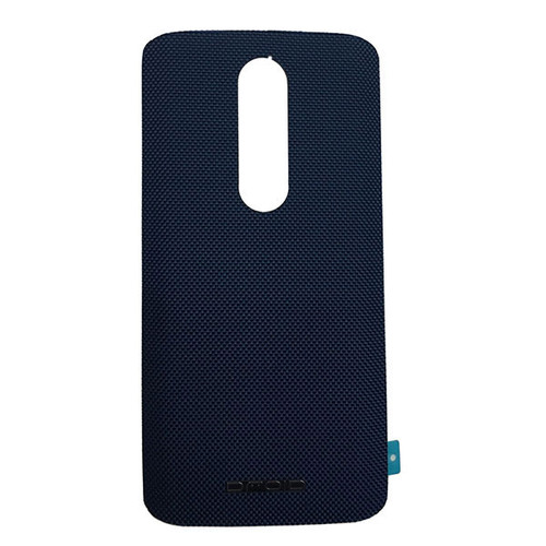 """Back Cover with """"DROID"""" logo for Motorola Droid Turbo 2 -Blue (Nylon)"""