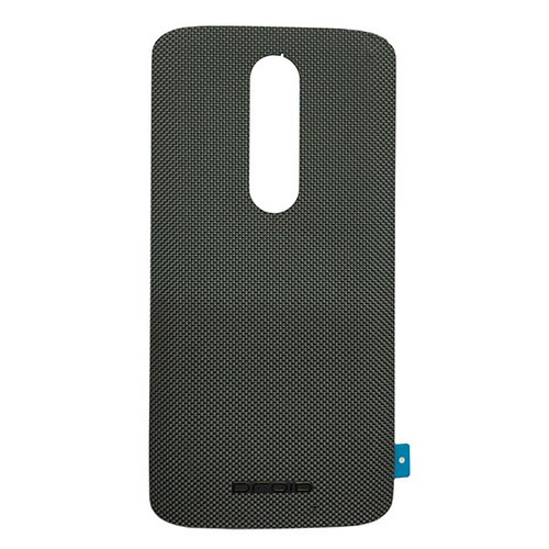 """Back Cover with """"DROID"""" logo for Motorola Droid Turbo 2 -Gray (Nylon)"""