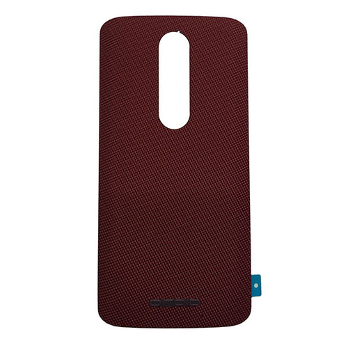 """Back Cover with """"DROID"""" logo for Motorola Droid Turbo 2 -Red (Nylon)"""