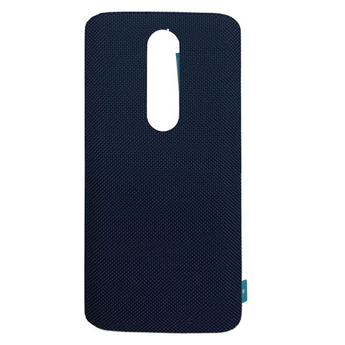 """Back Cover without """"DROID"""" logo for Motorola Droid Turbo 2 -Blue (Nylon)"""