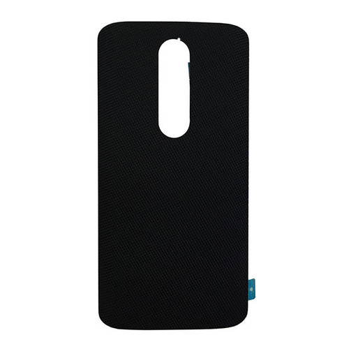 "Back Cover without ""DROID"" logo for Motorola Droid Turbo 2 -Black (Nylon)"