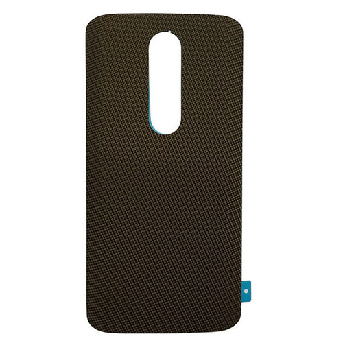 """Back Cover without """"DROID"""" logo for Motorola Droid Turbo 2 -Brown (Nylon)"""