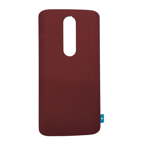 """Back Cover without """"DROID"""" logo for Motorola Droid Turbo 2 -Red (Nylon)"""