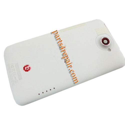 Back Housing Cover with Side Keys for HTC One X +  -White (at&t Version)