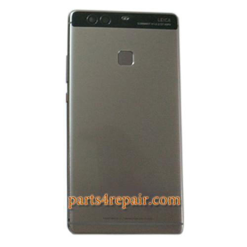 Back Housing Cover with Fingerprint Sensor Flex Cable for Huawei P9 Plus -Gray