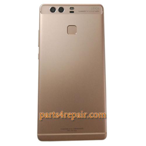 Back Housing Cover with Fingerprint Sensor Flex Cable for Huawei P9 Plus -Rose Gold