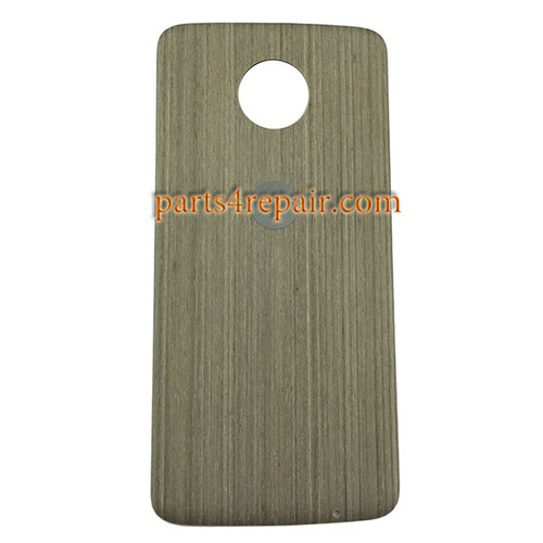 Back Case for Motorola Moto Z -Gray Wood