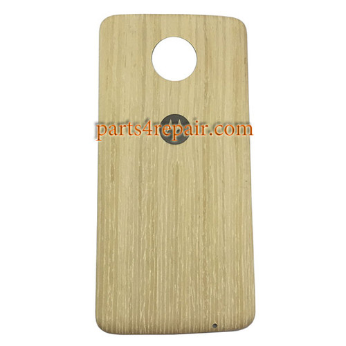 Back Case for Motorola Moto Z -White Wood
