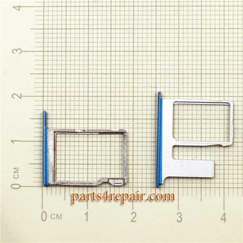 Single SIM Tray & TF Card Tray for HTC One E8 -Blue