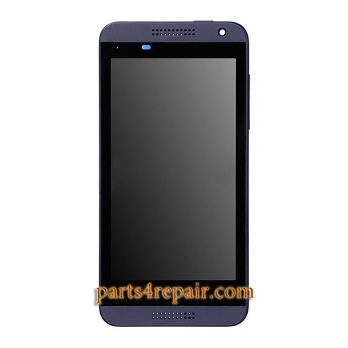 Complete Screen Assembly with Bezel for HTC Desire 610 -Blue
