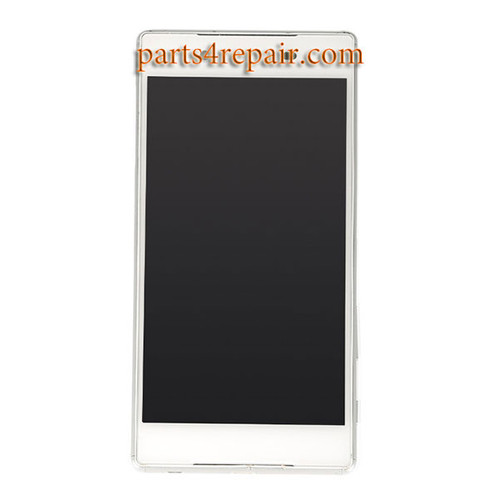 Complete Screen Assembly with Bezel for Sony Xperia Z5 -White