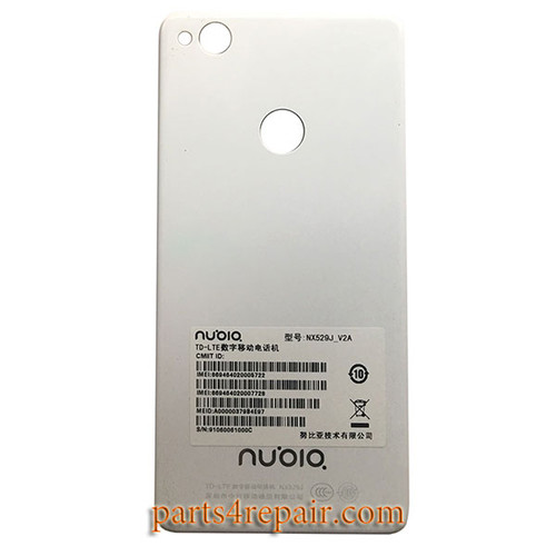 Back Cover for ZTE Nubia Z11 mini NX529J -White