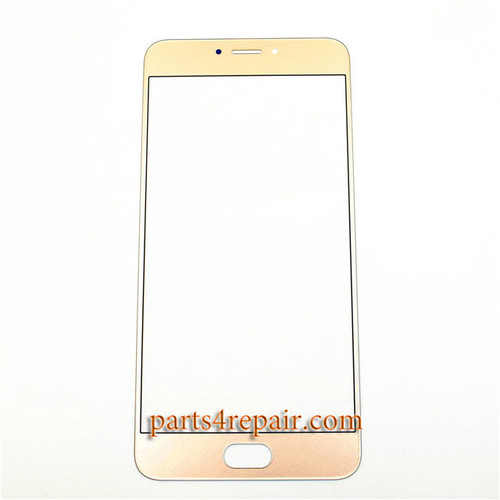 Front Glass OEM for Meizu MX6 -Gold