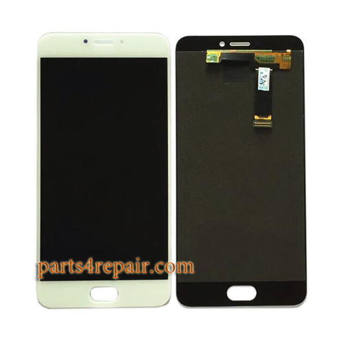 Complete Screen Assembly for Meizu MX6 -White