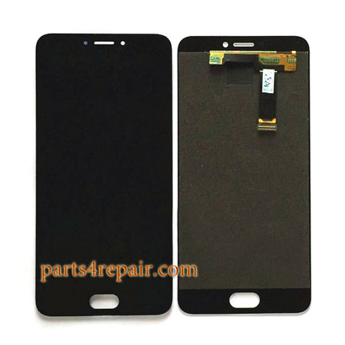 Complete Screen Assembly for Meizu MX6 -Black