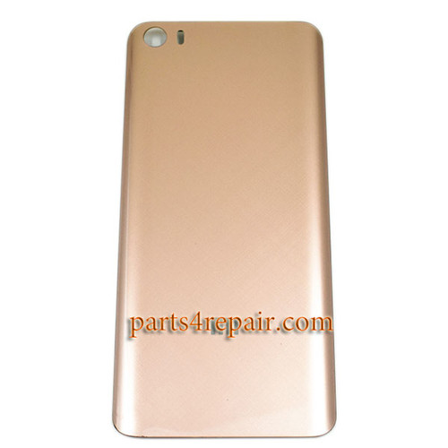 Back Glass Cover with Buckle for Xiaomi Mi 5 -Gold