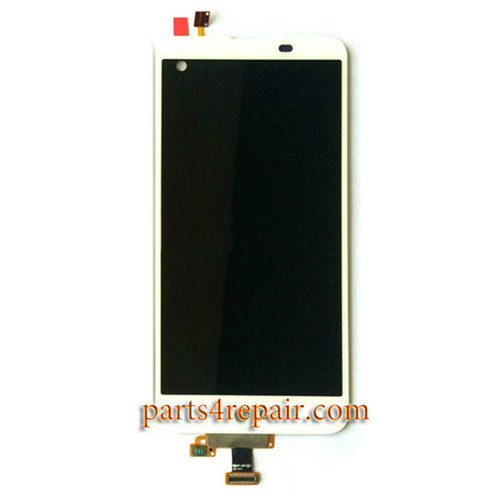Complete Screen Assembly for LG X Screen K500 -White
