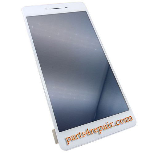 Complete Screen Assembly with Bezel for Oppo R7s -White
