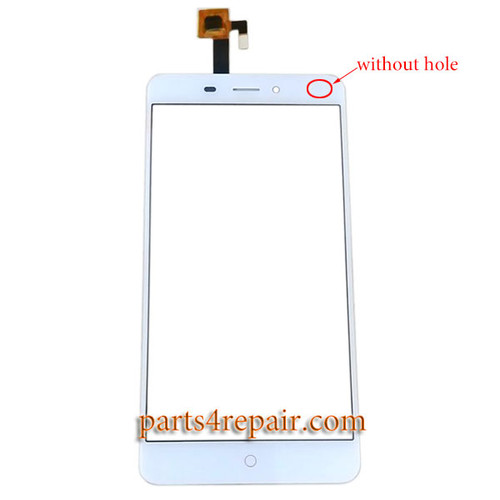 Touch Screen Digitizer without Hole for ZTE Nubia N1 NX541J -White