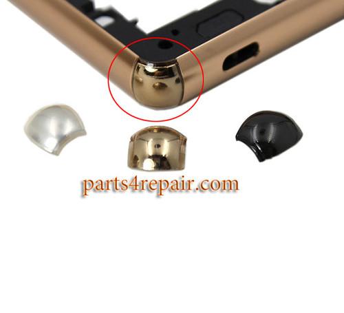 4pcs Corner Caps for Sony Xperia Z3+ (Z4) -Silver