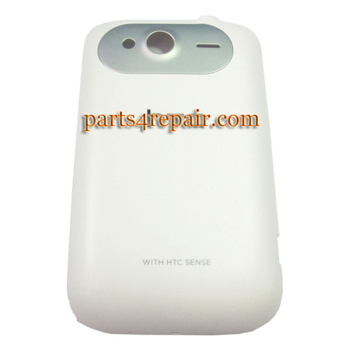 Back Cover for HTC Wildfire S -White