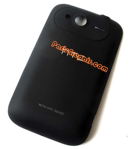 Back Cover for HTC Wildfire S -Black