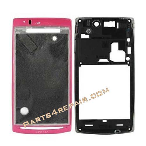 Full Housing cover for Sony Ericsson Xperia Arc S LT18I / LT15I  -Sakura Pink