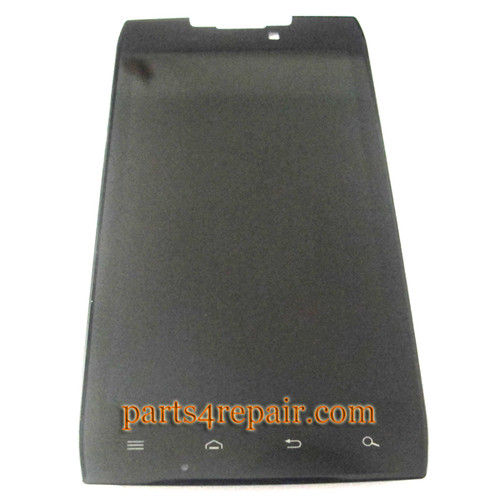 Complete Screen Assembly without Bezel for Motorola RAZR XT910 from www.parts4repair.com