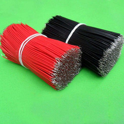 100pcs Motherboard Jumper Cable Wires Tinned 10cm -Red