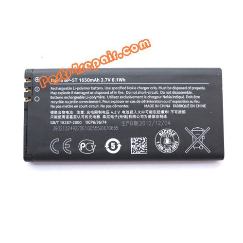 BP-5T 1650mah Battery for Nokia Lumia 820