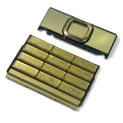 a full set of Keypads Original for Nokia 8800 Gold Arte