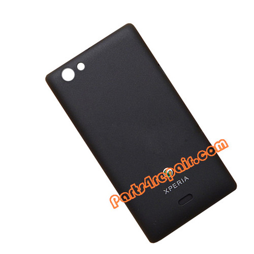 Back Cover for Sony Xperia miro ST23I -Black