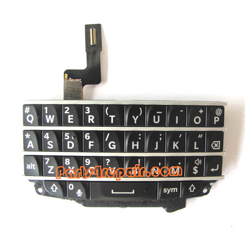 Keypad Board with Flex Cable for BlackBerry Q10 -Black