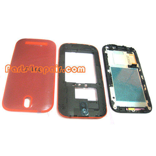 Full Housing Cover for HTC One SV -Red