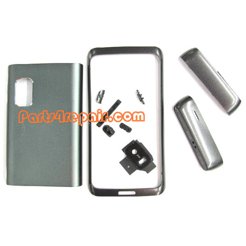 Full Housing Cover for Nokia E7 / E7-00 -Silver