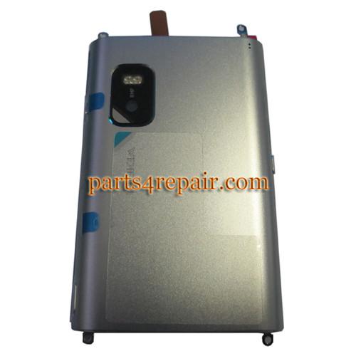 Back Cover for Nokia E7 -Silver