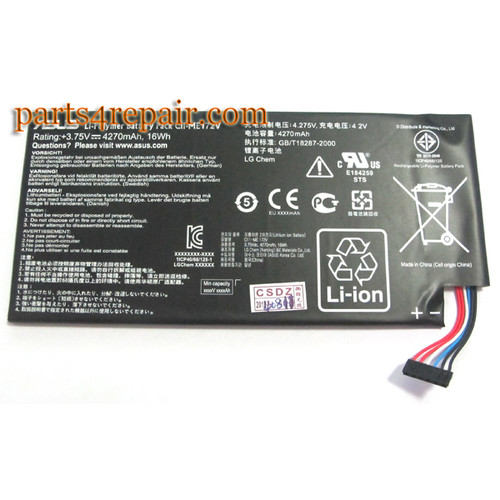 Built-in Battery for Asus Memo Pad ME172V