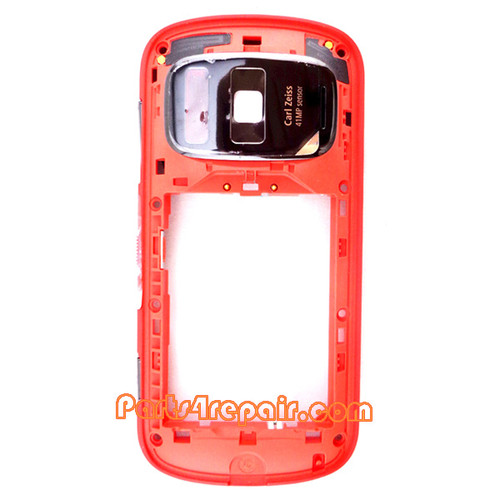 Middle Frame for Nokia 808 Pureview -Red