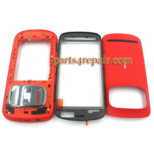 Full Housing Cover for Nokia 808 Pureview -Red