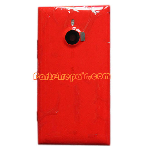 Back Housing Assembly Cover with Wireless Charging Coil for Nokia Lumia 1520 -Red