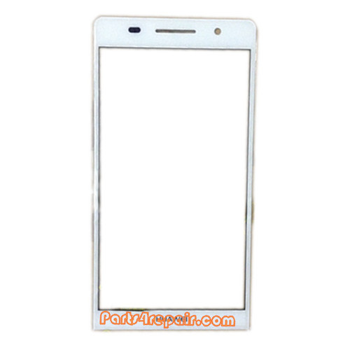 Front Gorilla Glass for Huawei Ascend P6 -White