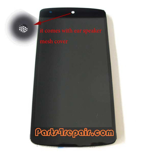 Complete Screen Assembly with Bezel for LG Nexus 5 D821 -Black