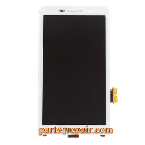 Complete Screen Assembly with Front Bezel for BlackBerry Z30 -White
