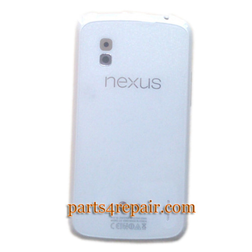 Back Cover with NFC OEM for LG Nexus 4 E960 -White from www.parts4repair.com