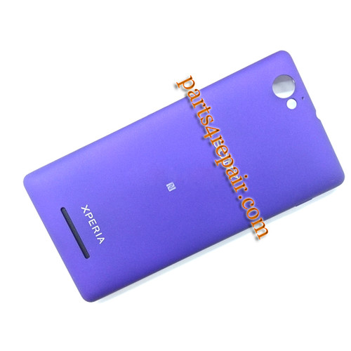 Back Cover with NFC & Side Keys for Sony Xperia M C1905 -Purple