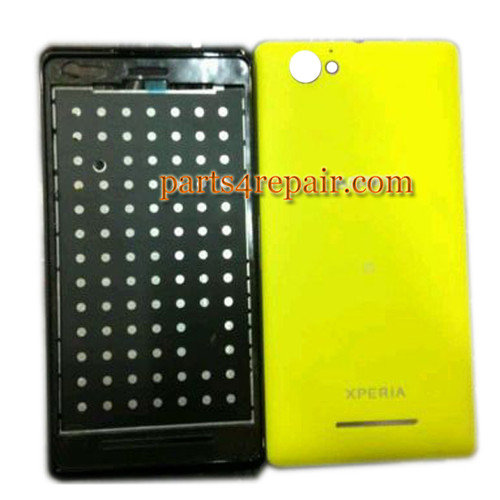 Front Cover & Back Cover for Sony Xperia M C1905 -Yellow