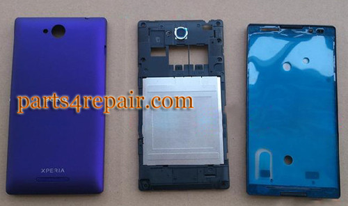 Full Body Housing Cover OEM for Sony Xperia C S39H -Purple