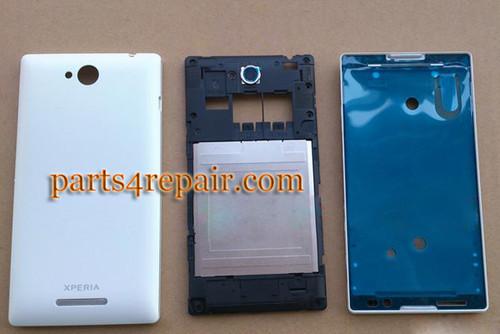 Full Body Housing Cover OEM for Sony Xperia C S39H -White