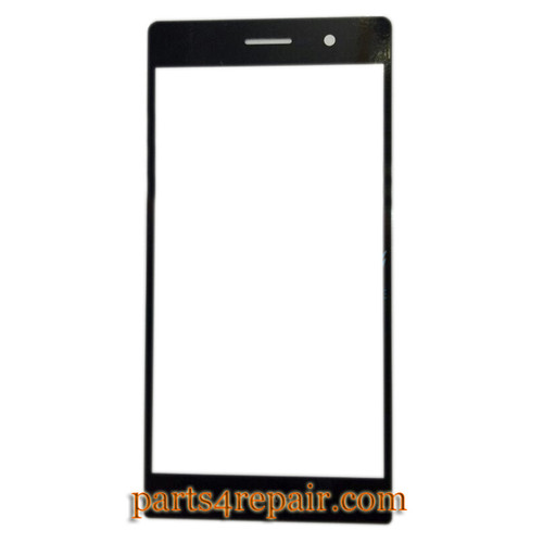 Front Glass for Huawei Ascend P7 -Black